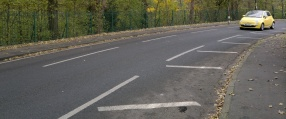 Change lane markings