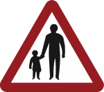 Walking road sign